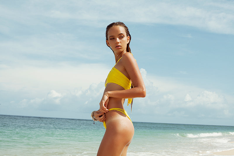 inka williams in yellow bikini by storm swimwear