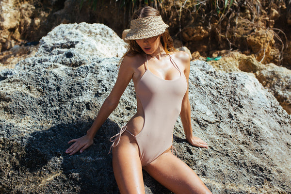 One piece swimsuit in nude