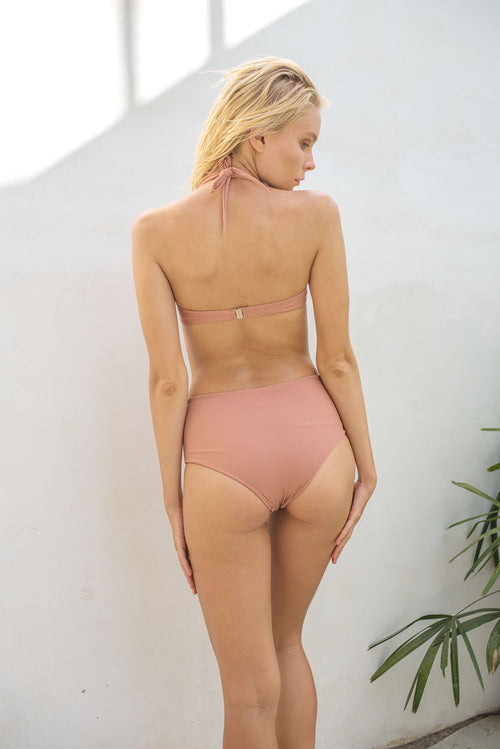 Cannes - High Waist Bikini Bottom in Sun Kissed