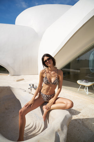 Lanzarote - bikini top in Cheetah Print