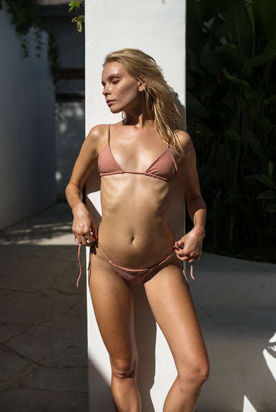 Formentera - Tie Side Bikini Bottom in Sun Kissed