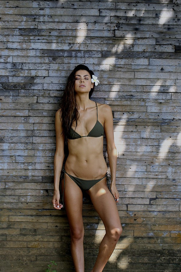 Bikini bottom in military green by storm swimwear