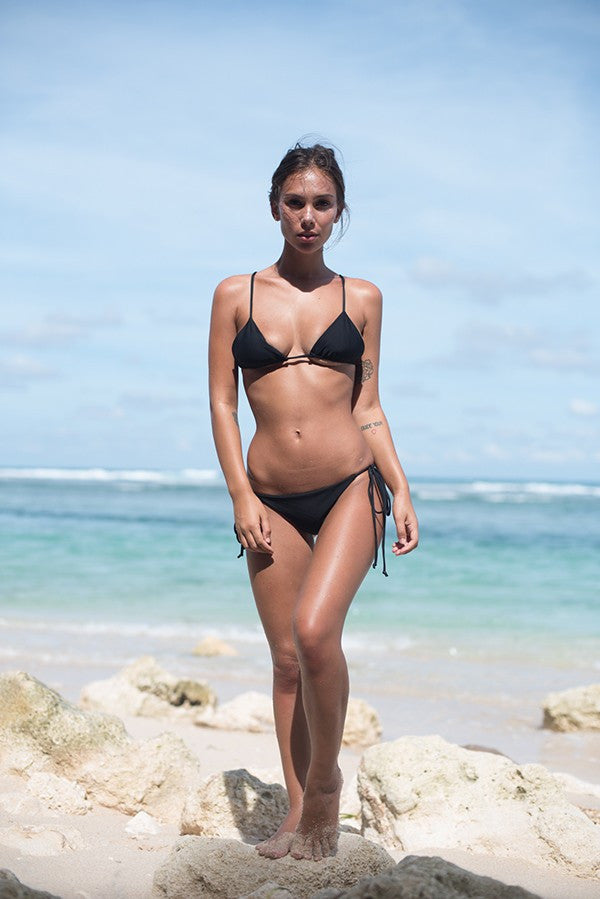 Black bikini top by Storm Swimwear