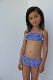Elle - One set Bikini kids in Blue and White Stripe