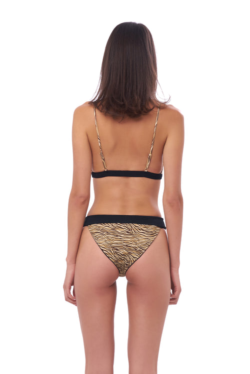 Biarritz - Bikini Bottom in Tiger Print