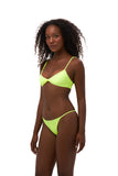 Capri - Tube Single Side Strap Bikini Bottom in Neon Yellow