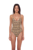 Sicily - One Piece Swimsuit in Tiger Print
