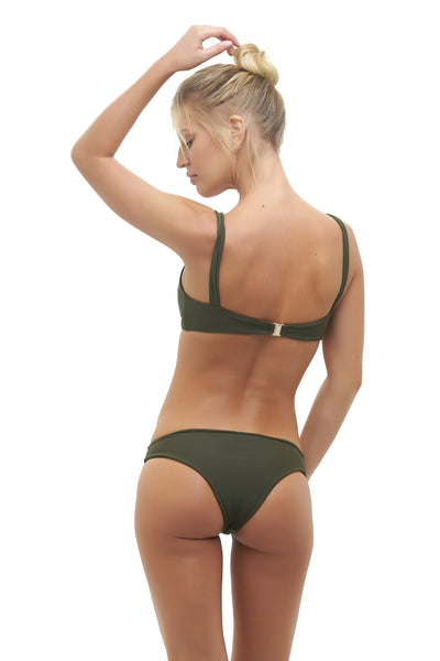 Cottesloe - Bikini top in Military Green