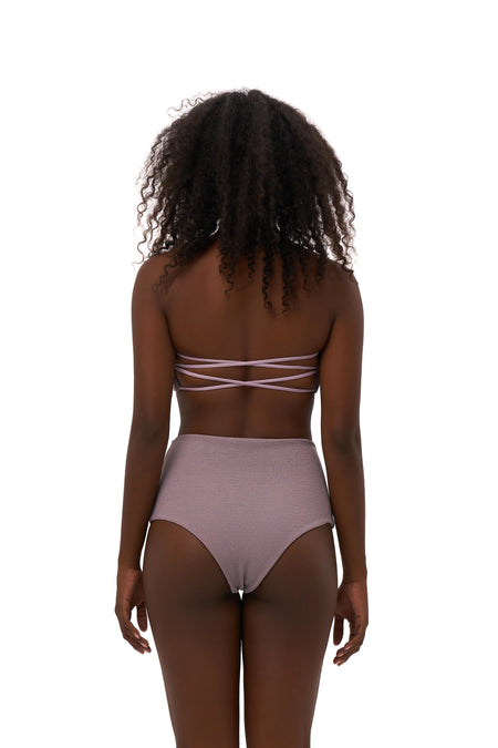 Cannes - High Waist Bikini Bottom in Plain Bamboo