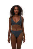 Super Paradise - Super Style High waist brief in Slate Grey