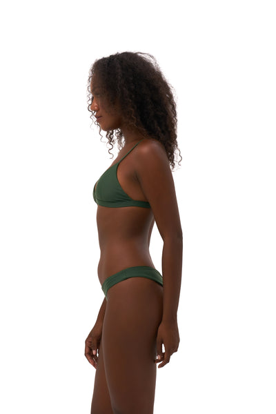 Mallorca - Triangle Bikini Top with removable padding in Plain Bamboo