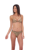 Bora Bora - Twist front padded top in Tiger Print