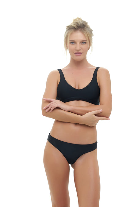 Cannes - High Waist Bikini Bottom in Storm Le Nuage Sable