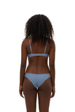 Bora Bora - Twist front padded top in Sky Blue