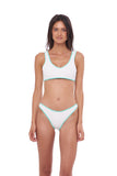 Cayman Scuba - Top in Seascape White Textured