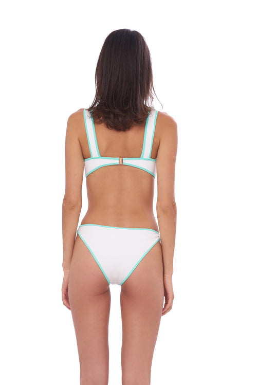 Cayman - Bikini Brief in Seascape White Textured