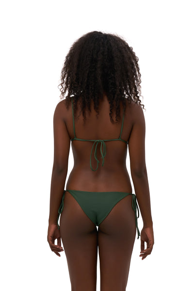 Formentera - Tie Side Bikini Bottom in Plain Bamboo