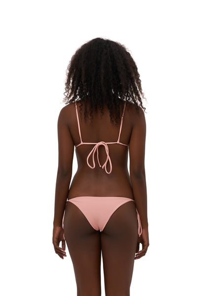 Formentera - Tie Back Triangle Bikini Top in Coral Cloud