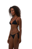 Formentera - Tie Side Bikini Bottom in Storm Le Nuage Noir