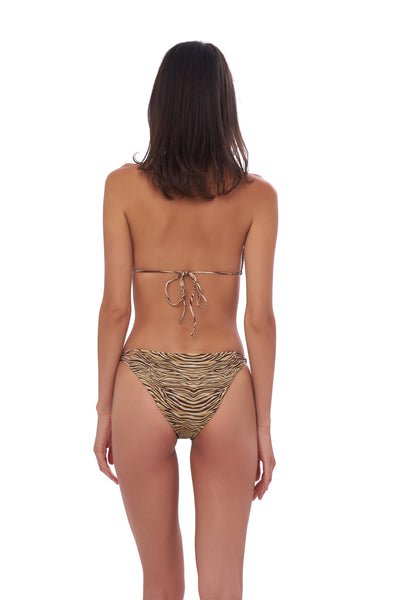 Blue Lagoon - Bikini Bottom in Tiger Print