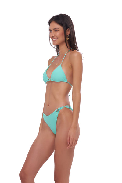 Blue Lagoon - Tie Back with Padded Bikini Top in Aquamarine