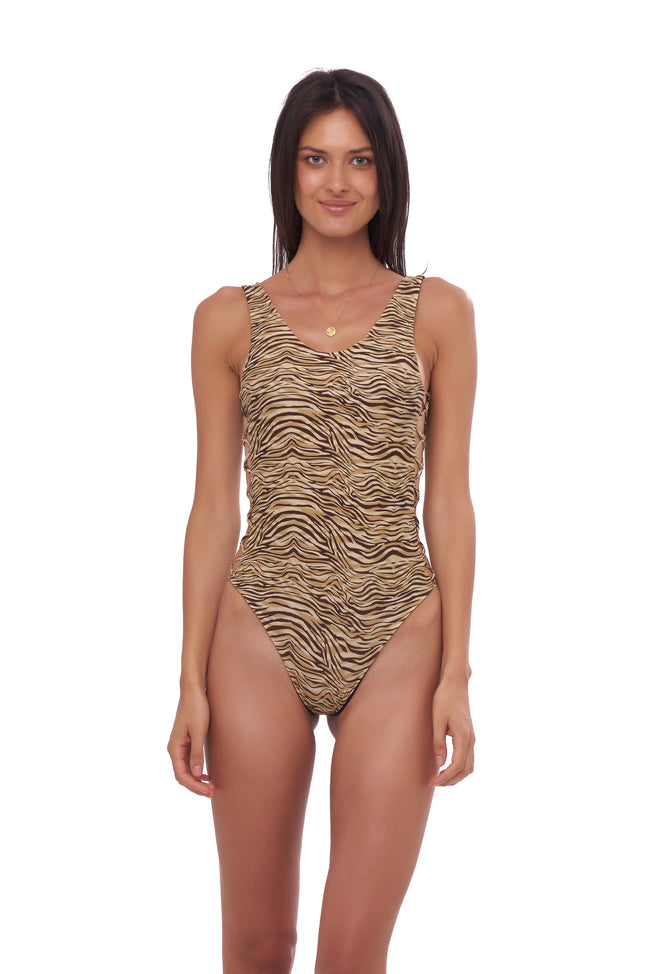 Playa Del Amor - One Piece Swimsuit in Tiger Print
