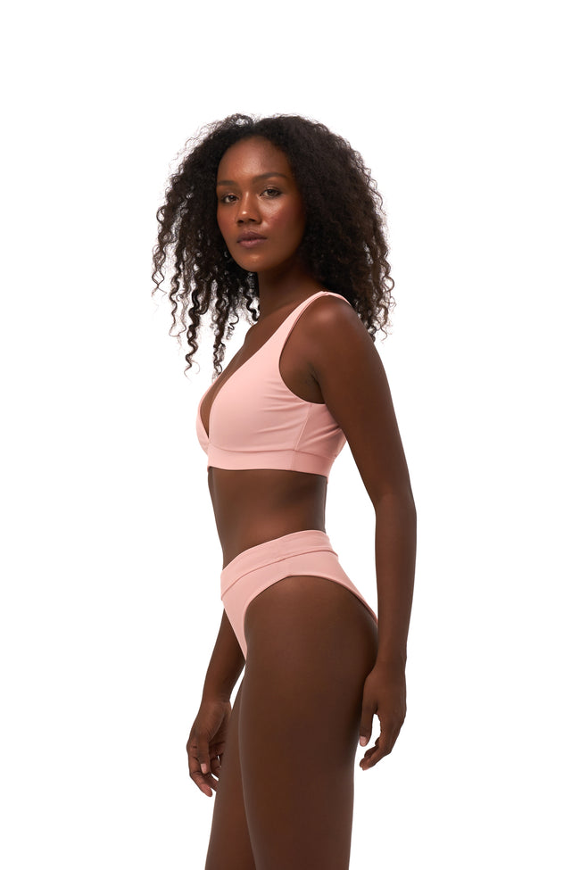 Super Paradise - Super Style High waist brief in Coral Cloud