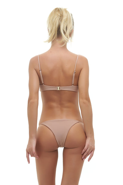 Capri - Tube Single Side Strap Bikini Bottom in Nude