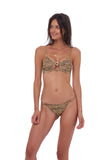 Capri - Tube Single Side Strap Bikini Bottom in Tiger Print