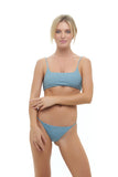 Montauk - Scoop bikini Top in Dusk Blue