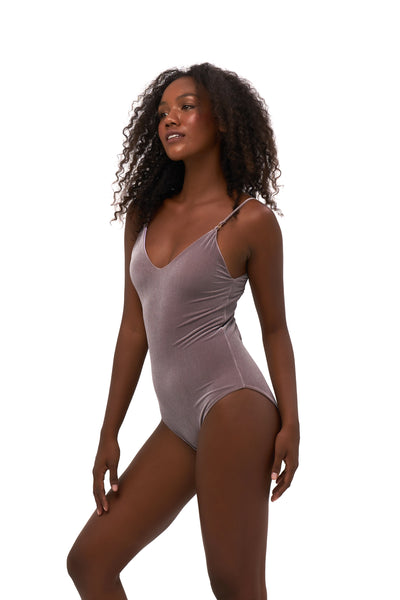 Portofino - One Piece Swimsuit in Purple Velvet