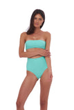 Cannes - High Waist Bikini Bottom in Aquamarine