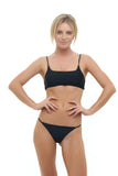Capri - Tube Single Side Strap Bikini Bottom in Black