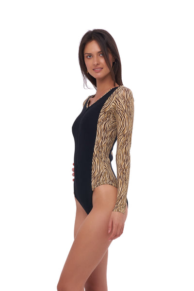 Echo Beach - One Piece in Tiger Print