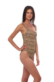 Cinque Terre - One shoulder One Piece in Tiger Print
