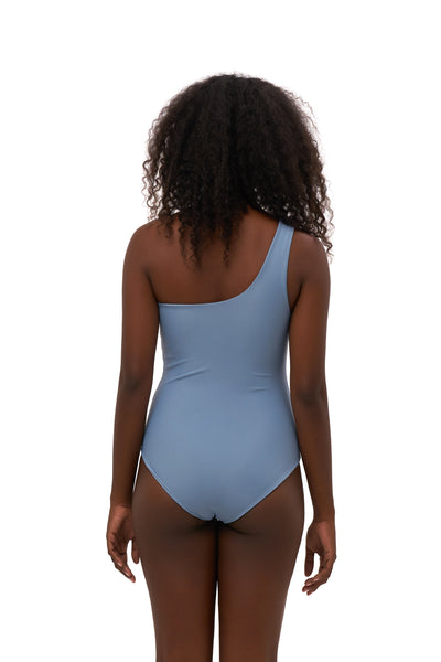 Cinque Terre - One shoulder One Piece in Sky Blue