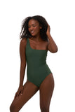 Cinque Terre - One shoulder One Piece in Plain Bamboo