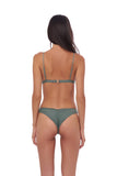 Aruba - Centre Back Ruche Bikini Bottom in Eucalyptus