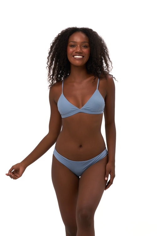 Mallorca - Triangle Bikini Top with removable padding in Sky Blue