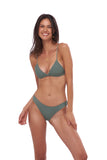 Mallorca - Triangle Bikini Top with removable padding in Eucalyptus