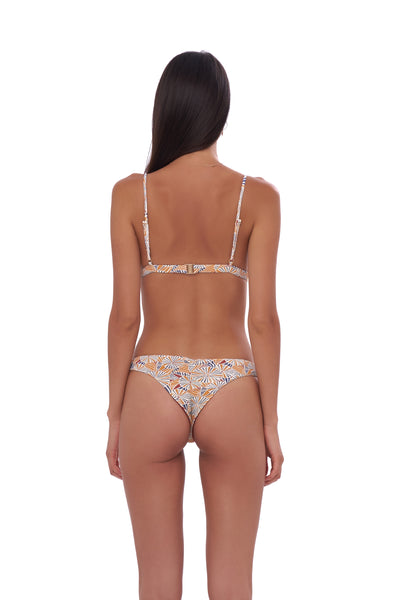 Mallorca - Triangle Bikini Top with removable padding in Wild Flower Print