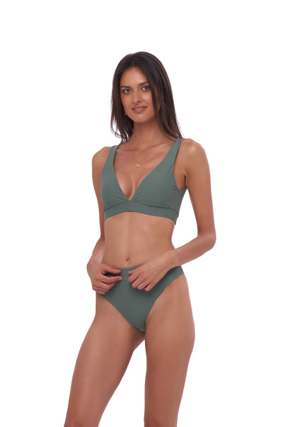 Super Paradise - Super Style High waist brief in Eucalyptus