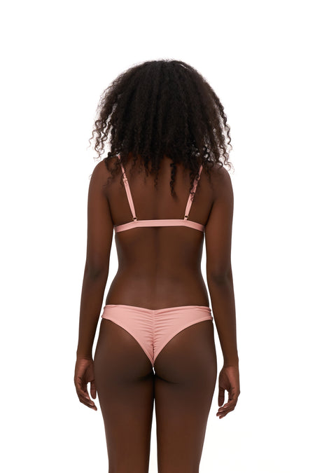 Aruba - Centre Back Ruche Bikini Bottom in Black