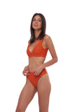 Super Paradise - Super Style High waist brief in Sunburnt Orange