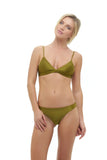 Mallorca - Triangle Bikini Top with removable padding In Champagne