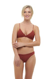 Mallorca - Triangle Bikini Top with removable padding In Desert Sand