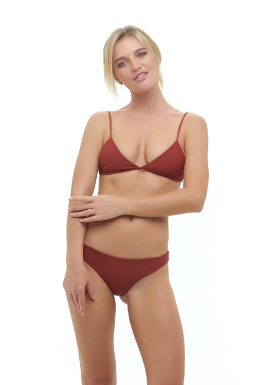 Bondi - Triangle Bikini Top In Desert Sand