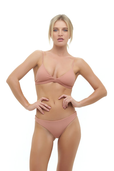 Mallorca - Triangle Bikini Top with removable padding In Sun Kissed