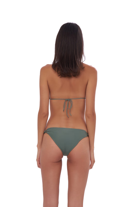 Aruba - Centre Back Ruche Bikini Bottom in Coral Cloud