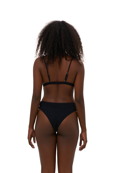 Super Paradise - Super Style High waist brief in Seascape Jacaranda Textured